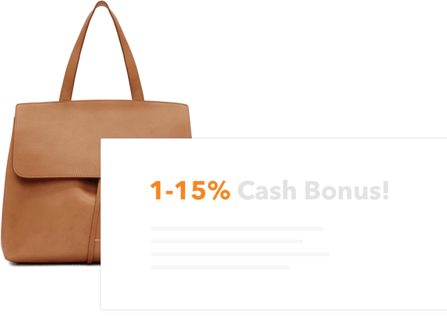 Get 1% to 15% cash back